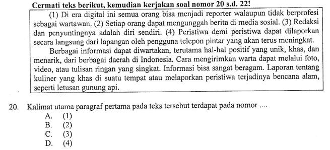 Soal Dan Pembahasan Tentang Kalimat Utama Paragraf Soal Un Smp Mts 2019 Zuhri Indonesia