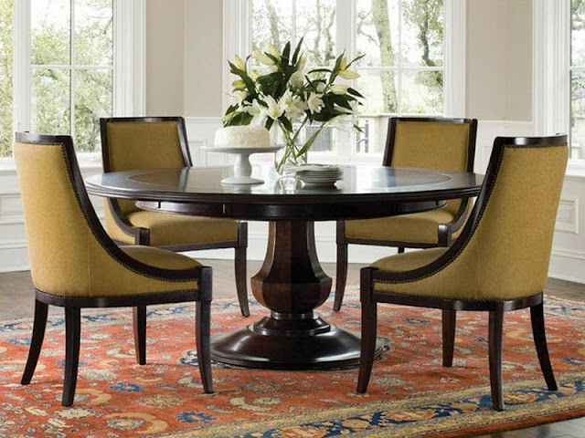 Modern Room with Round Dining Tables Modern Room with Round Dining Tables 9