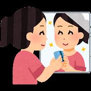 鏡の水垢の掃除のイラスト(研磨パッド)