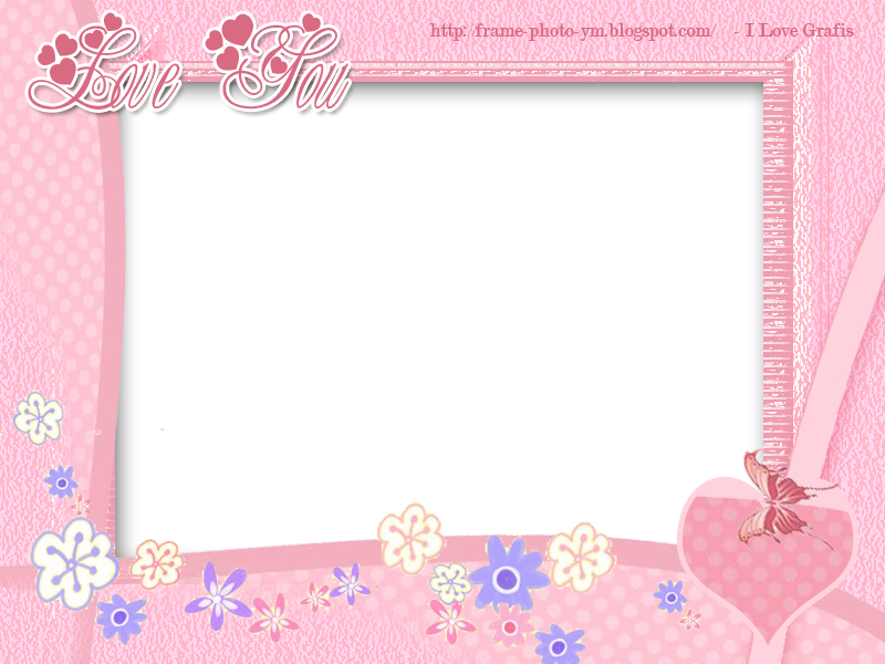 Cute Romantic Babies Wallpapers 061 Love You Pink Design Frame Free Download Frame