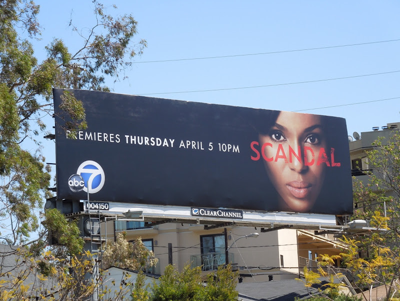 Scandal TV billboard