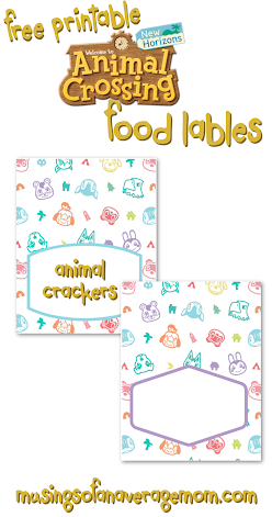 Animal Crossing Birthday Printables