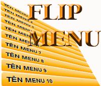 Flip Menu - Menu dọc với hiệu ứng lật bằng JQuery