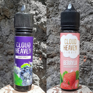 Cloud Heaven Liquid, Grape Minty, Strawberry Milk Vanilla Cream, Berryla