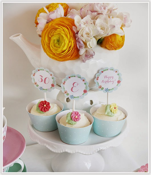 Cupcake toppers by Paper & Party Love