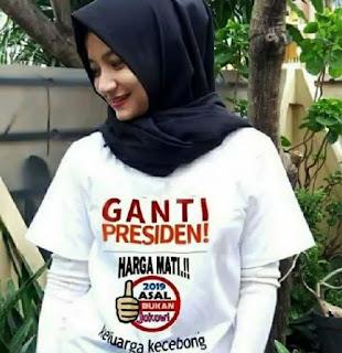 Disain Kaos 2019 Ganti Presiden Cewek - Disain Kaos 2019 Ganti Presiden Wanita