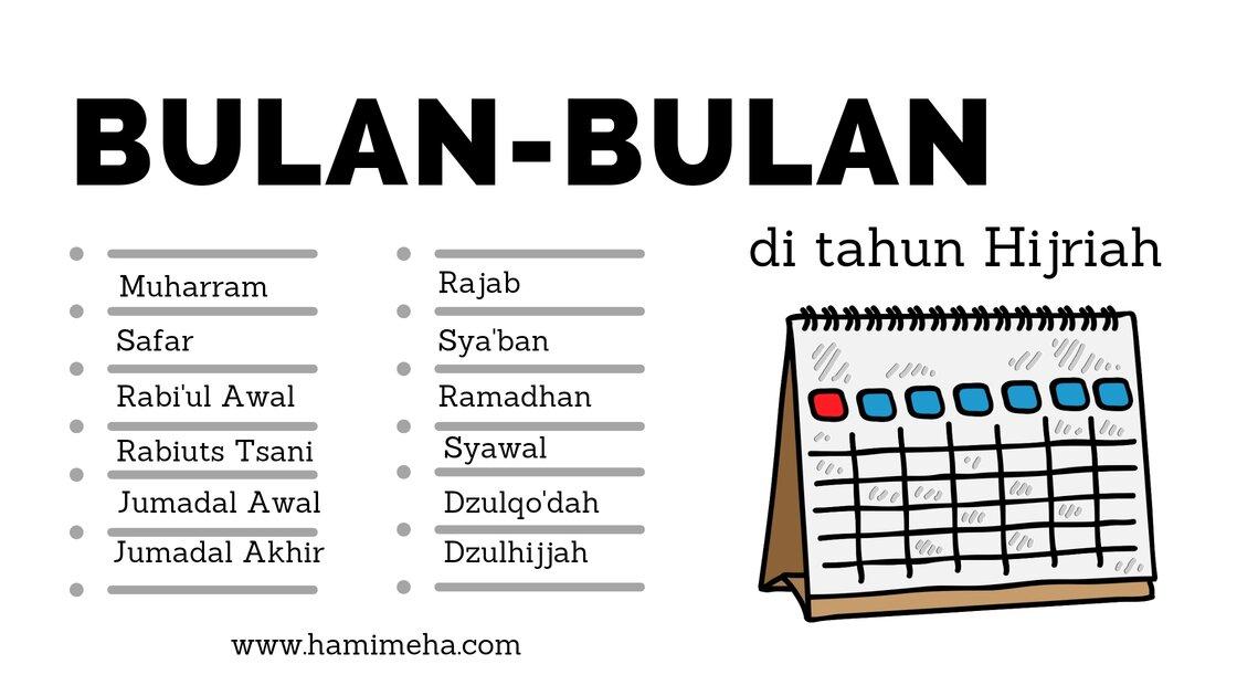 Bulan di kalender hijriah