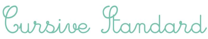 Cursive Standard Font