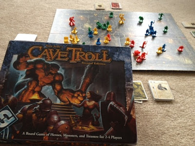 Cave Troll board game by Fantasy Flight Games mid play