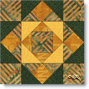 """Around the Block"" quilt block"