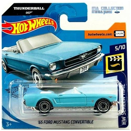 Hot Wheels, Thunderball 007, 65 Ford Mustang convertible