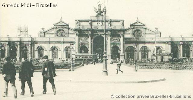 Ancienne Gare du Midi - Début des années 1900 - Bruxelles disparu - Bruxelles-Bruxellons