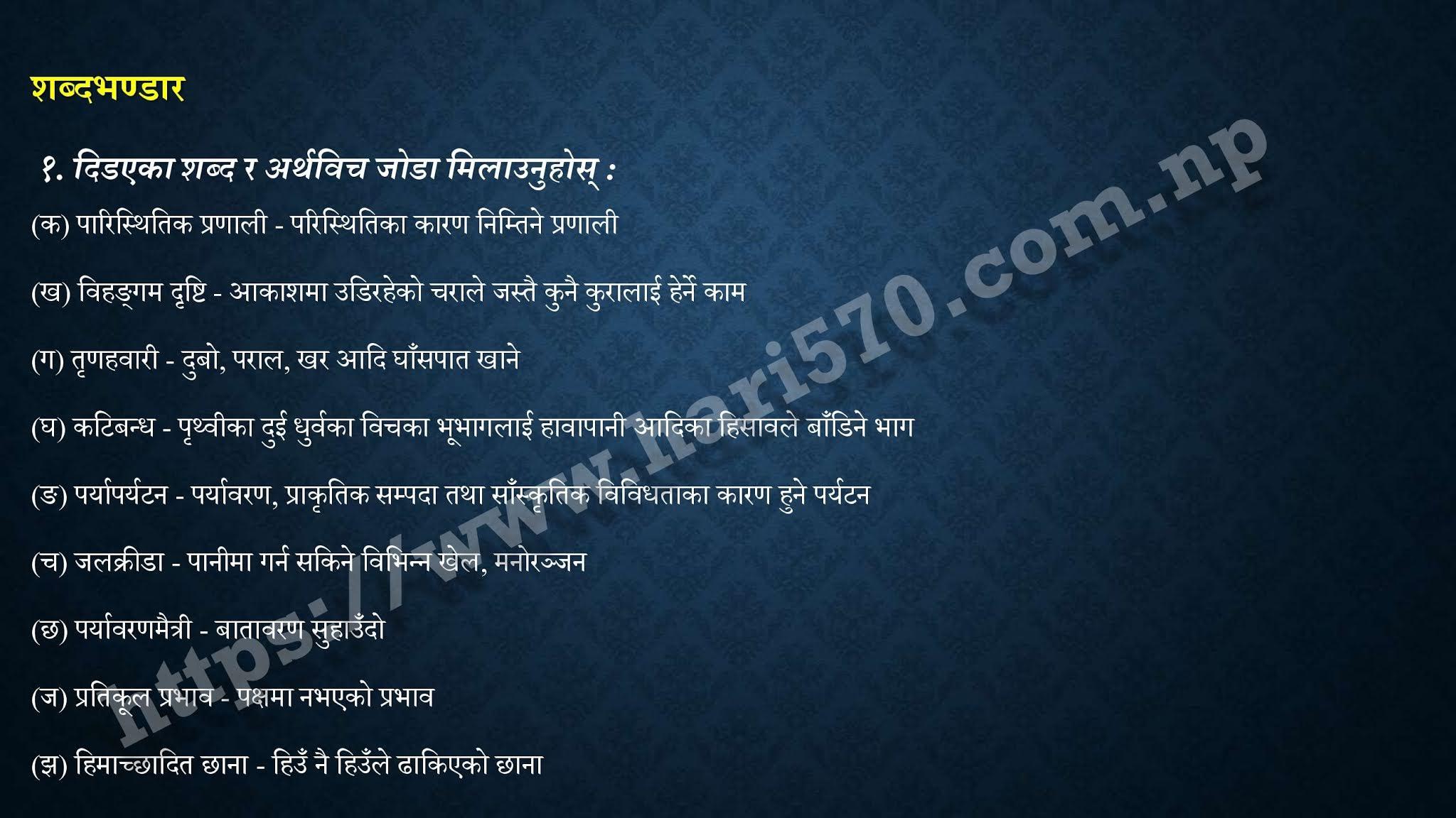 Class 11 Nepali Chapter 7