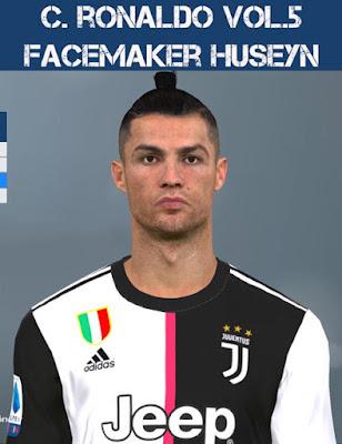 PES 2017 Cristiano Ronaldo New Face & Hair by Huseyn