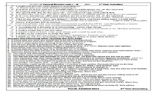 مذكرة مراجعة نهائية انجليزي تالتة اعدادى روعة الترم التانى مستر طارق الابيض مذكرة المراجعة النهائية فى اللغة الانجليزية الترم التانى
