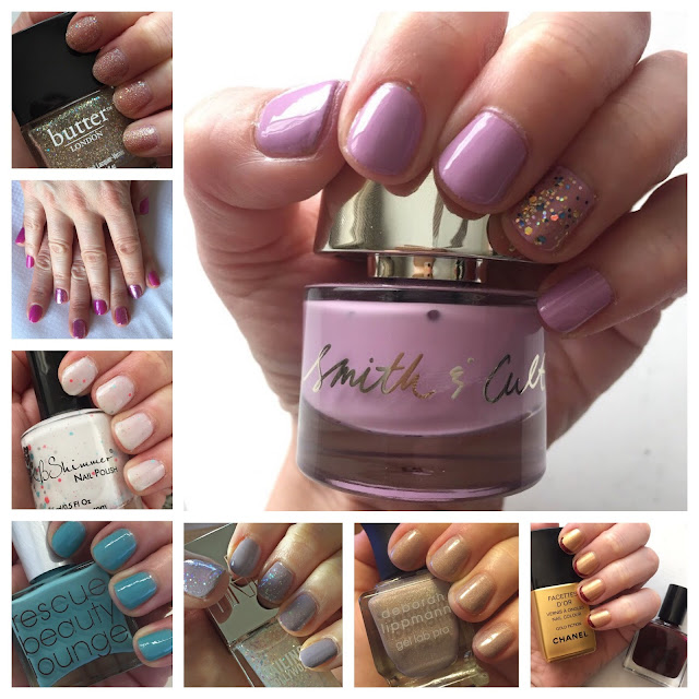 Throwback Thursday, #tbt, manicure, nails, nail polish, nail lacquer, nail varnish, butter LONDON Tart With A Heart, OPI Hello Kitty Collection, KBShimmer Don't Play Koi, Smith & Cult, Deborah Lippmann Glitter And Be Gay, Rescue Beauty Lounge Manicurator, Nailing Hollywood, Chanel Gold Fiction, RGB Cosmetics Oxblood