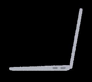 横から見たノートパソコンのイラスト