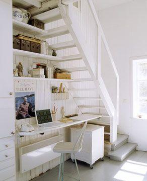 tv cabinet under staircase design