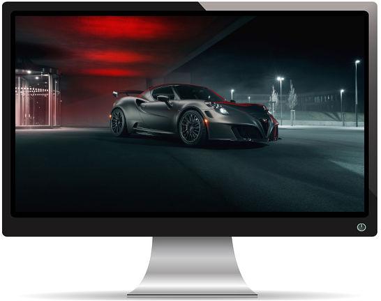 Alfa Romeo 4C Nemesis par Pogea Racing 2018 - Fond d'écran en Full HD 1080p
