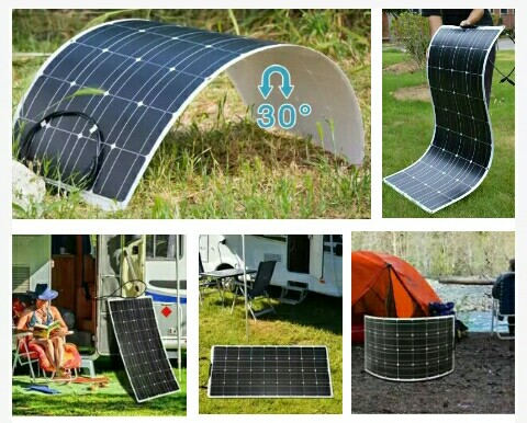Bendable Solar Power Cells - 100Watts Dokio Monocrystalline Energy Panels