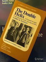 The Double Helix, by James Watson, superimposed on Intermeidate Physics for Medicine and Biology.