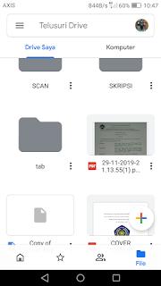 Agar file tidak hilang atau terhapus hanya dengan menggunakan hp android
