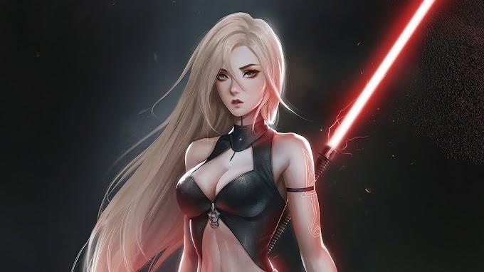 Guerreira Jedi Lado Negro da Força