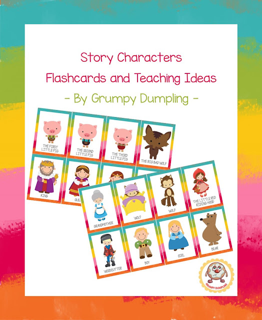 https://www.teacherspayteachers.com/Product/Story-Characters-Flashcards-and-Teaching-Ideas-Freebie-2142937