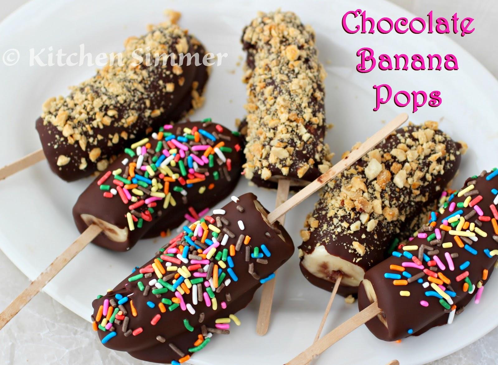Kitchen Simmer: Chocolate Covered Banana Pops