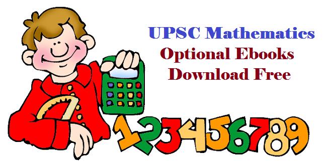 ThreeSixtyHope: Download UPSC CSE Mathematics Optional Ebooks Pdf Free
