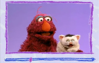 Elmo has got email from his friends Telly monster and Little Murray Sparkles. Sesame Street Elmo's World Bath Time Video E-mail