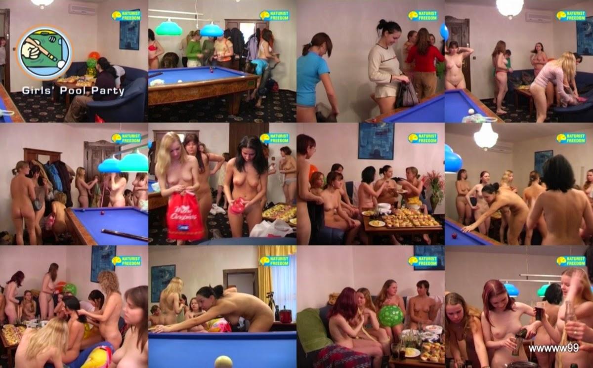 Naturist Freedom - Girls Pool Party / Голый биллиард. DVD.