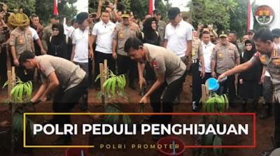 Kapolri Bersama Panglima TNI Dan Kepala BNPB Tanam Sebanyak 2020 Pohon