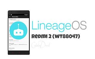 Rom Lineage OS 14.1 Nougat 7.1.1 Xiaomi Redmi 2 (wt88047)
