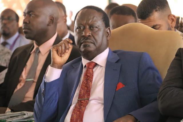 Raila Odinga at Orange house