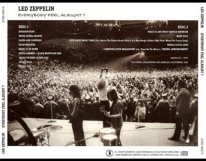 Led Zeppelin Bootlegs: Led Zeppelin - Everybody Feel Alright? (1970