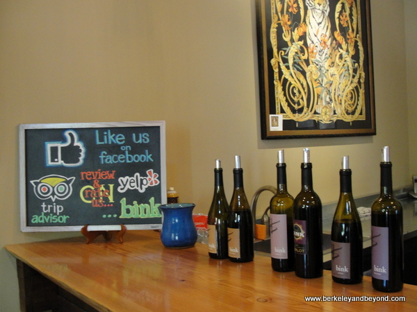 tasting room at Bink Wines at The Madrones in Philo, California
