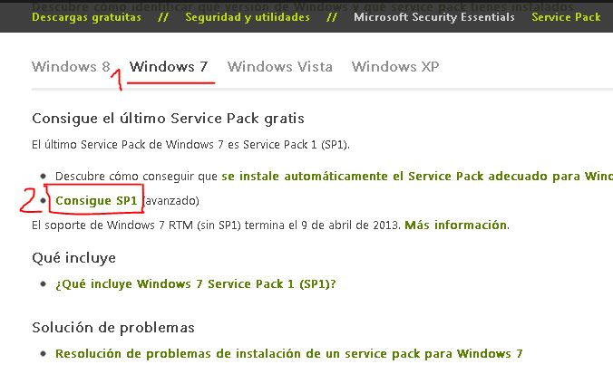 Centro de Service Pack - Windows 7 Service Pack 1 SP1