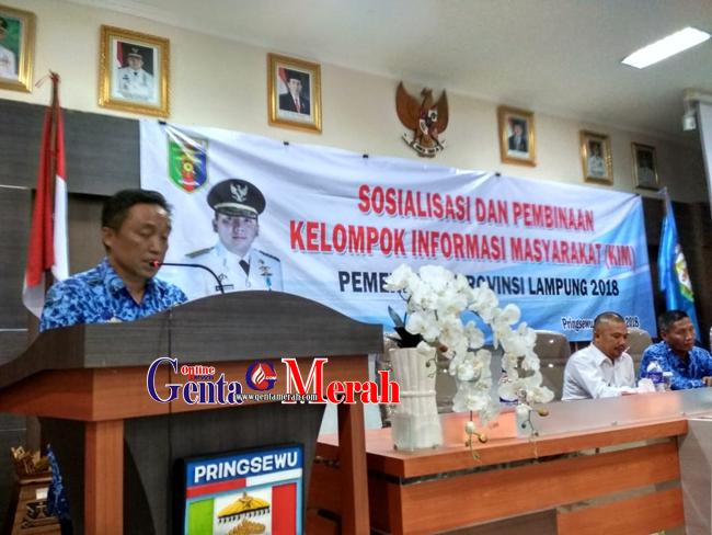 Pemprov Lampung Perkenalkan KIM di Dua Kabupaten
