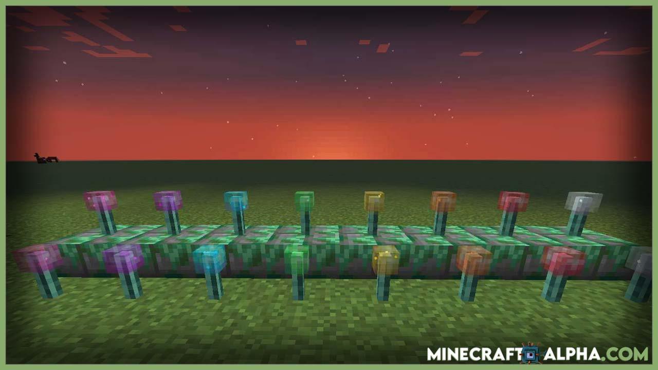 Minecraft Torch Slabs Mod 1.17.1 (Torches & Lanterns to be Placed on Half Slab Blocks)