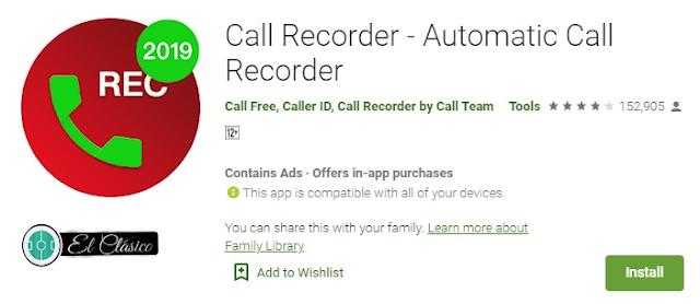 تنزيل تطبيق وبرنامج  اوتوماتيك كول ريكوردر أو ACR لتسجيل المكالمات وتسجيل المكالمه للاندرويد برابط مباشر من متجر بلاي