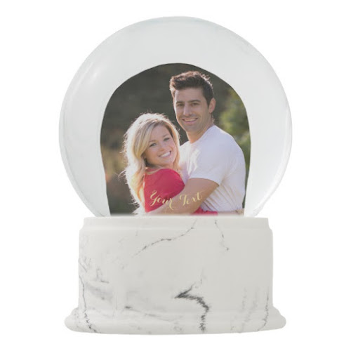 Create Your Own Custom Christmas Holiday Photo Snow Globe