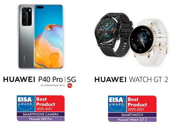 HUAWEI P40 Pro and HUAWEI WATCH GT 2 - EISA Award