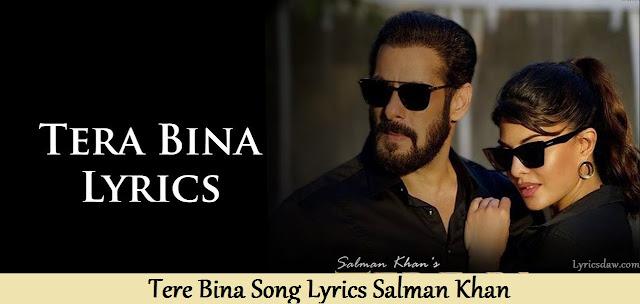 Tere Bina Lyrics In Hindi