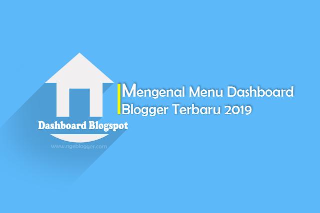 Menu Dashboard Blogger