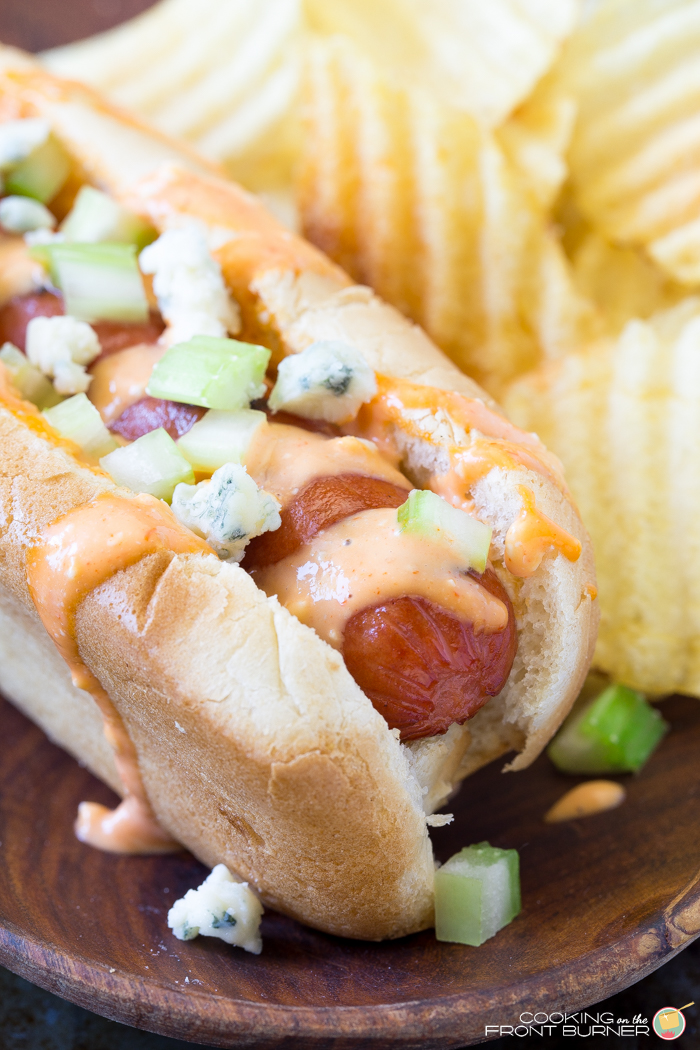 Buffalo Style Hot Dogs | Cooking on the Front Burner