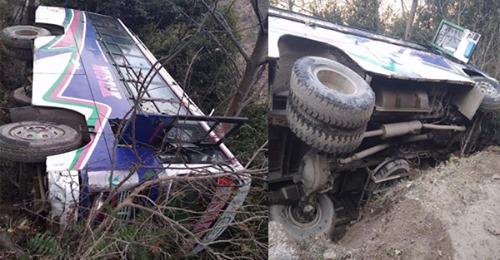 अभी अभी चंबा में सड़क से नीचे लुढ़की बस, ड्राइवर ने छलांग लगा बचाई जान