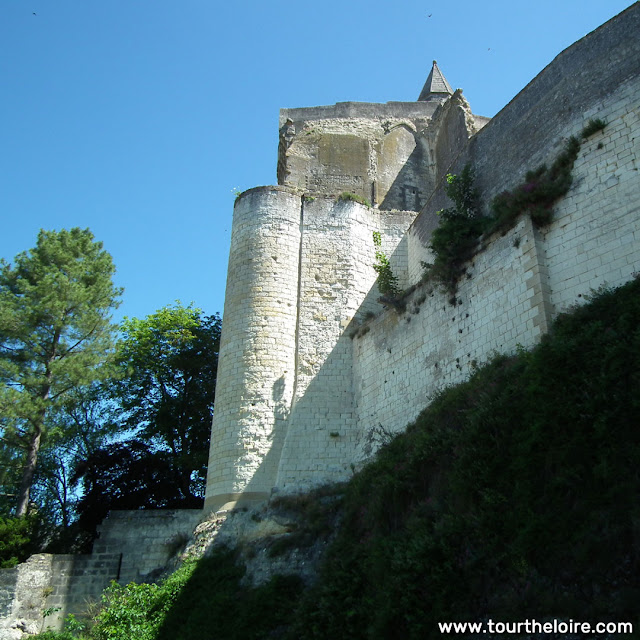 Fortress at Loches.  Indre et Loire, France. Photographed by Susan Walter. Tour the Loire Valley with a classic car and a private guide.