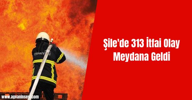Şile'de 313 İtfai Olay Meydana Geldi