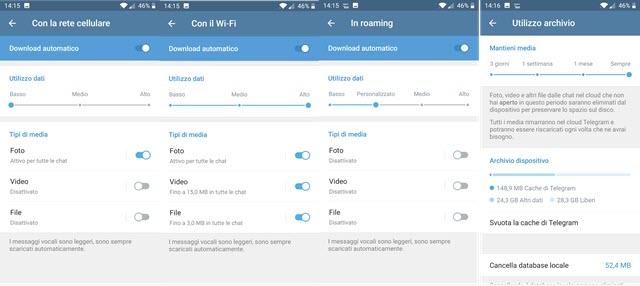 personalizzazione del download automatico telegram